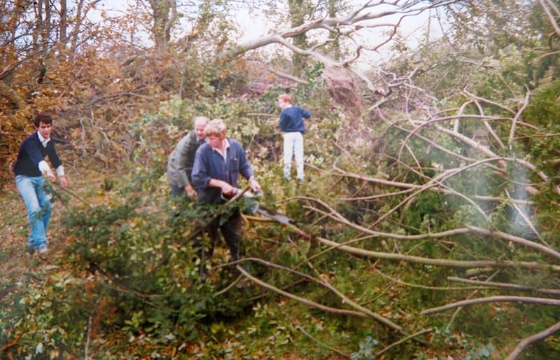 Tim and David Sinclair were joined by staff and boarders in helping with the post-storm clean-up