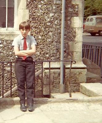 Nick as a boy at Sompting Abbotts
