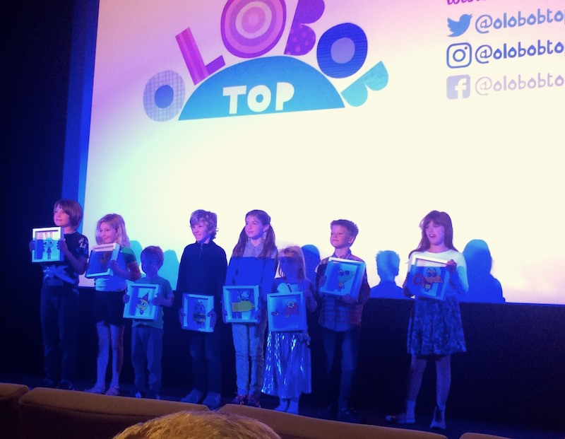 Veronica, Sompting Abbotts pupil, with the other young voiceover actors for CBeebies' series Olobob Top
