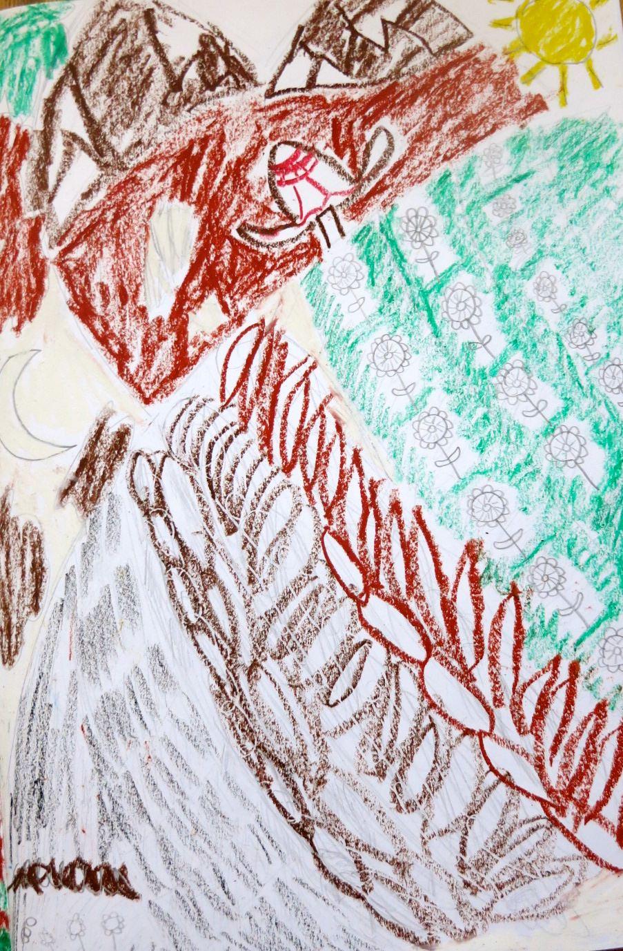 """Spring kindles into summer."" Illustration by George B-N, Year 8, Sompting Abbotts Preparatory School"