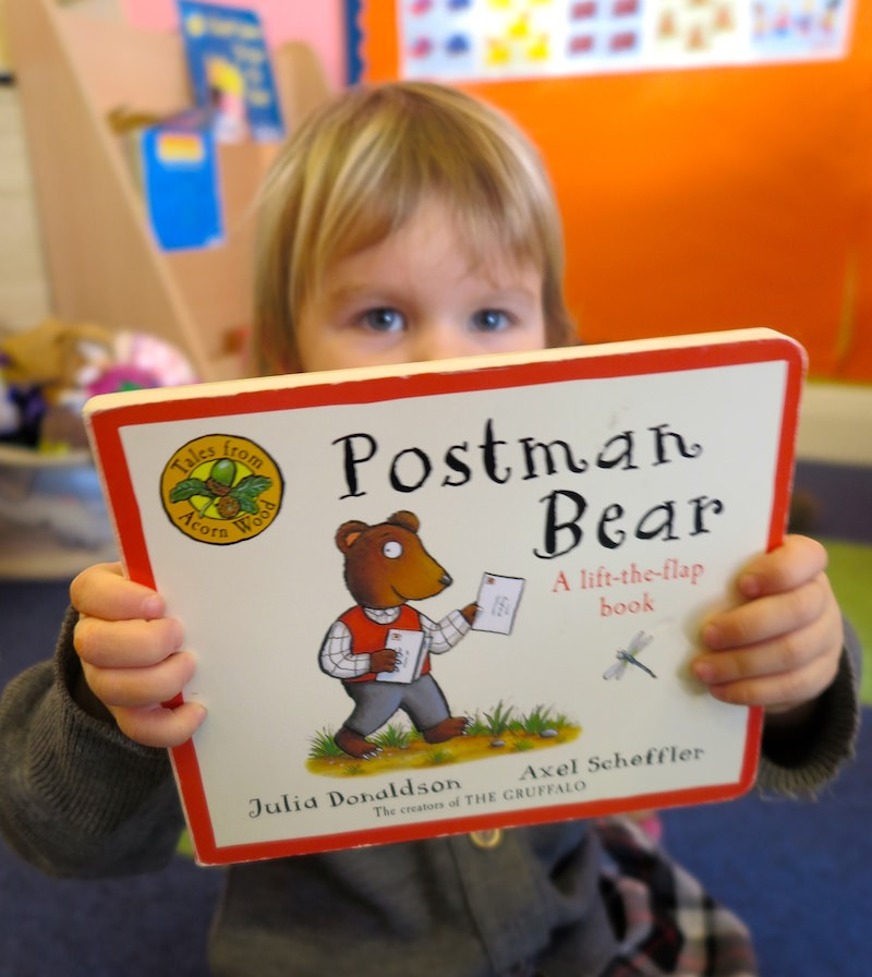 postman bear is a favourite pre-schooler book at sompting abbotts preparatory school