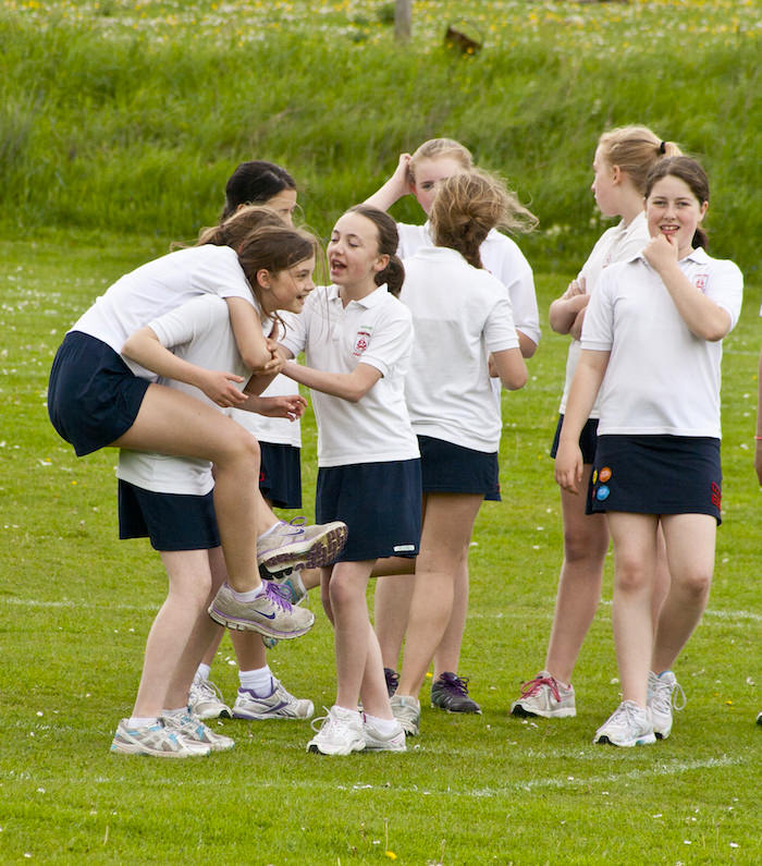 Girls celebrating a win at rounders at Sompting Abbotts