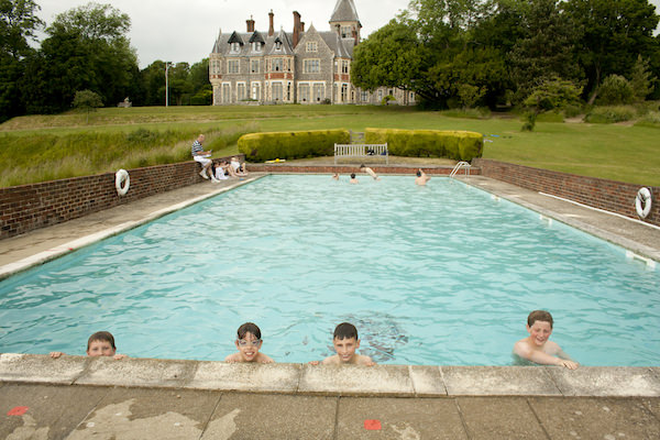 Swimming lessons in the heated pool at Sompting Abbotts Prep School