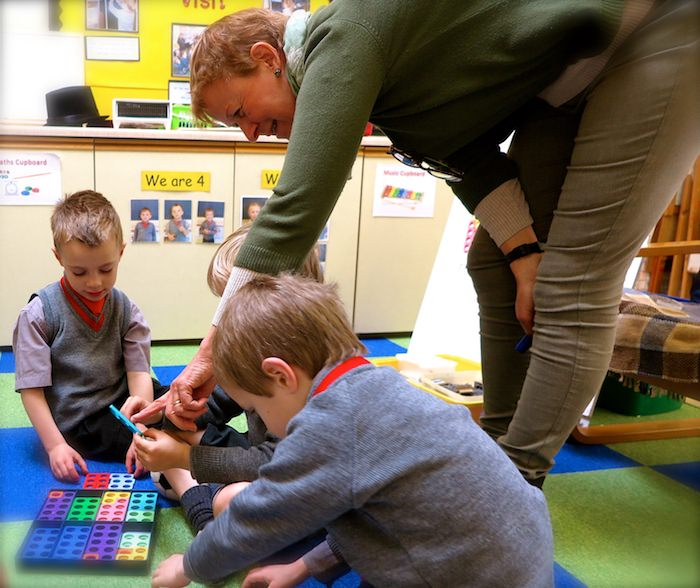 pre prep children learning maths with numicon at sompting abbotts prep school