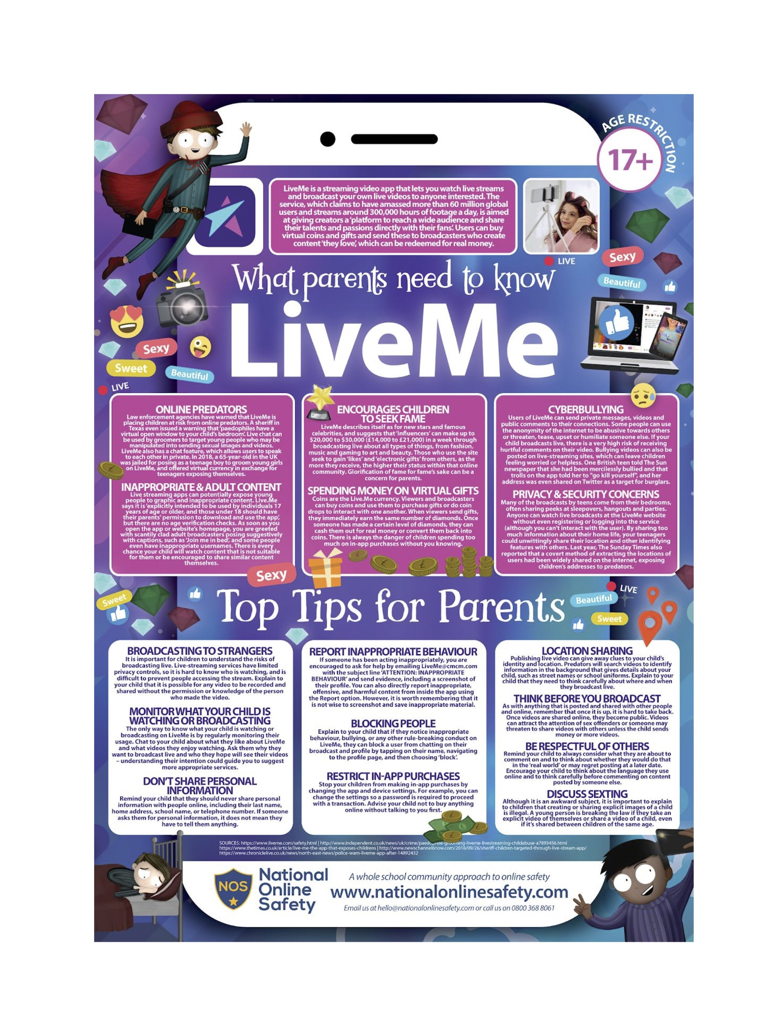 Advice for Parents About Children's Use of LiveMe