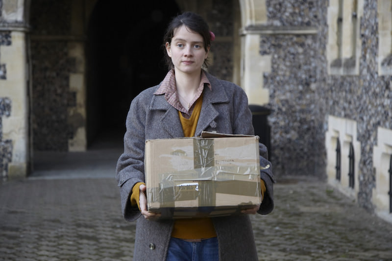 A scene from the film, filmed at Lancing College