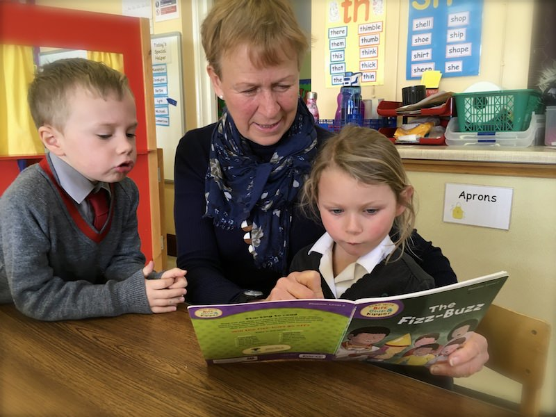 Reading in Reception Class at Sompting Abbotts Prep School