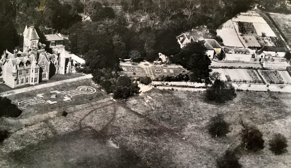 1. When was this aerial taken do you think? What are the market gardens/fields to the east - who maintained them - what did they produce?