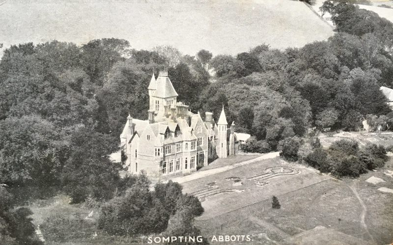 Sompting Abbotts as it would have been when Dr Stillman arrived aged 8. The trees were far denser then – many were felled by the Great Storm of 1987. The landscaped gardens were grassed over in 1965 to save labour and free up more space for free play. Back then Sompting Abbotts was a boarding school exclusively for boys. It became a co-educational day school for girls and boys in 1998. Boarding ceased in 2008.