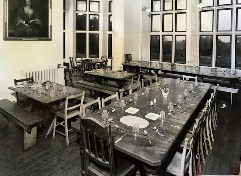 The school dining room at Sompting Abbotts as it would have been at the period.
