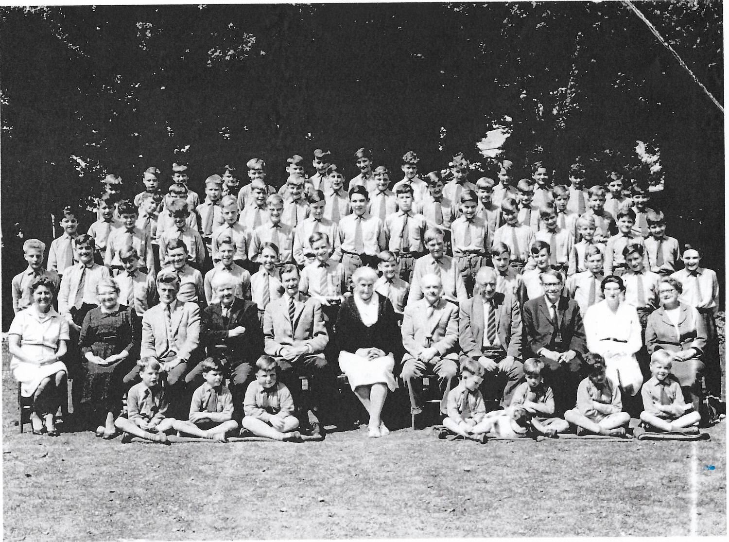 School photo from 1963 when Dr Richard Stillman was a pupil at the school. He's pictured 5th from the right on the third row. Seated at the front are the teachers. From left: Mrs Wyre, Miss Gingell, Mr Stamford, Mr 'Ding Dong' Bell, Headmaster Mr George Rutherford, Mrs Molly Sinclair, Captain King, Mr Esdule, Mr Rocket, Matron Miss Law and Miss Grace