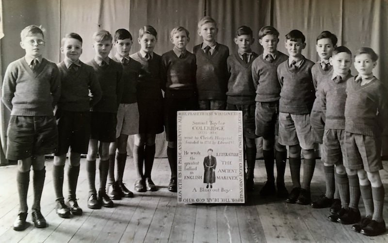 Undated photo of the period of some of the boys lined up for a presentation and recital in honour of Samuel Coleridge