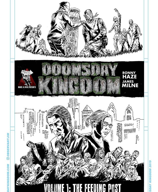 Doomsday Kingdom Volume 1 cover!  #doomsdaykingdom #art #illustration #zombies #comics #horror #mappfamily