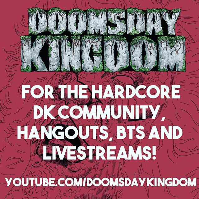 Hey Creeps be sure to subscribe to our comic channel for all future livestreams. First one tonight!  https://www.youtube.com/doomsdaykingdom  #doomsdaykingdom #art #illustration #zombies #comics #horror #mappfamily