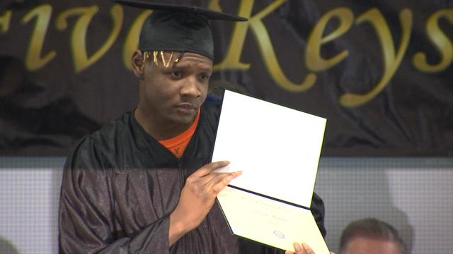 inmates earn high school diplomas through... -
