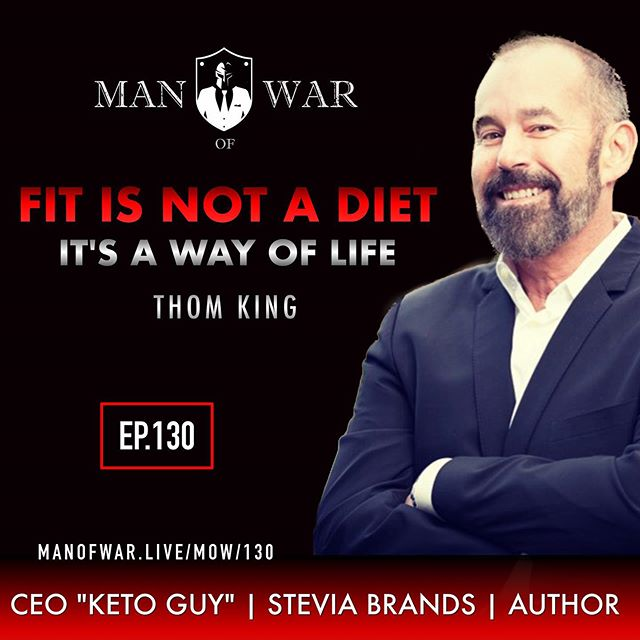 "🔥PODCAST NOTIFICATION 🔥 . In this enlightening episode 130 we answer the question why health is a primary component in living a warrior life. . We dig deep into the mentality of staying fit at any age and why proper nutrition is essential. . We go down the Keto path and reveal a bunch of myths and some great information about this type of lifestyle. . Our guest is Thom King @thomkingpdx who is a serial entrepreneur, CEO of Stevia Brands, ""Guy Called Keto"" and an author. . Founded by King in 1999, Stevia Brands Inc. is one of the largest importers, manufacturers and distributors of clean-label sweetening systems and natural sweeteners. Emulating such renowned entrepreneurs such as the Wright Brothers and Steve Jobs, King started his company by first asking the critical question, ""Why?"" Based on the understanding that it's only by determining the ""why"" of what you want to do that you can achieve lasting success, King's business isn't simply something he does for a living. It stands as a testament to who he is, what he does and how he lives his life. . Join us in this interesting and thought provoking conversation where we cover subjects such as mindset, diet, Keto, discipline, entrepreneurship, fitness and so much more. . For this one I would highly recommend that you whip out a pen and paper and take some notes! . . Follow @manofwarr, @manofwarpodcast . . If you are ready to make a change in your life and start living a warrior life check out @menofwarcrucible  and @conclaveofwarriors . . . . THANK YOU FOR MAKING THIS A TOP RATED PODCAST WITH OVER 2 MILLION DOWNLOADS IN JUST OVER TWO YEARS!!"