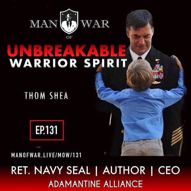💥NEW EPISODE RELEASE 💥 . On episode 131 we dive into living a life that embodies the warrior spirit. . We welcome back highly decorated Navy SEAL @thomsheaunbreakable @frogmanout . He is the CEO of Adamantine Alliance, author of Unbreakable: A Navy SEAL's Way of Life and host of the Unbreakable Podcast. Shea has served twenty-three years with distinguished valor and has earned the Silver Star, Bronze Star for valor, and multiple commendation medals for valor. This motivational conversation focuses on the warrior spirit. Shea embodies the warrior spirit at a level only a few men have attained. He uncovers what it means to be a warrior and how to develop the warrior's spirit. A man with no one to love, cannot reach the pinnacle of attaining the warrior's spirit no, matter how hard he tries. . Listen to this conversation multiple times and unlock key insights that can be immediately implemented into your life. Shea credits his Spartan wife and kids for making him a stronger man and helping him stay on the warrior's path. . In this powerful conversation we cover mindset, warrior spirit, family, fitness, discipline and fortitude. . As always absorb the knowledge we bring you and start implementing it into your life today. . . Follow @manofwarr . .