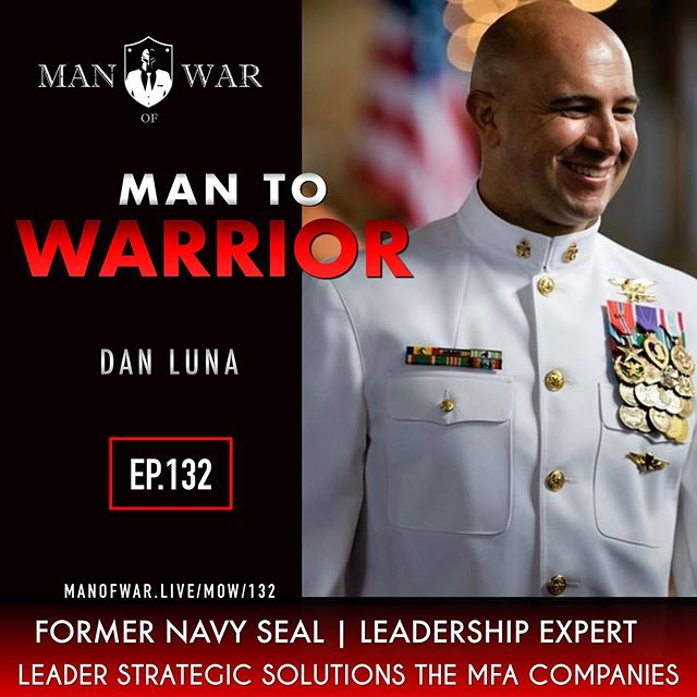 🇺🇸On episode 132 we dive into the heart of the warrior. In life there are those who collide with challenges and can't overcome them and fall back into being average then there are those who apply a warrior mindset to life and crush whatever obstacle is in front of them. . Our guest is former Navy Seal @dan.p.luna . He is the leader of Strategic Solutions for The MFA Companies. He is also a former instructor for the Naval Academy as well as a recognized leadership speaker. . In this powerful conversation we dive into topics such as warrior mindset, warrior cultures, leadership, confidence, outlook of our tomorrow, courage and so much more. . . Listen to the Man of War Podcast at @manofwarpodcast . . Follow @manofwarr . .