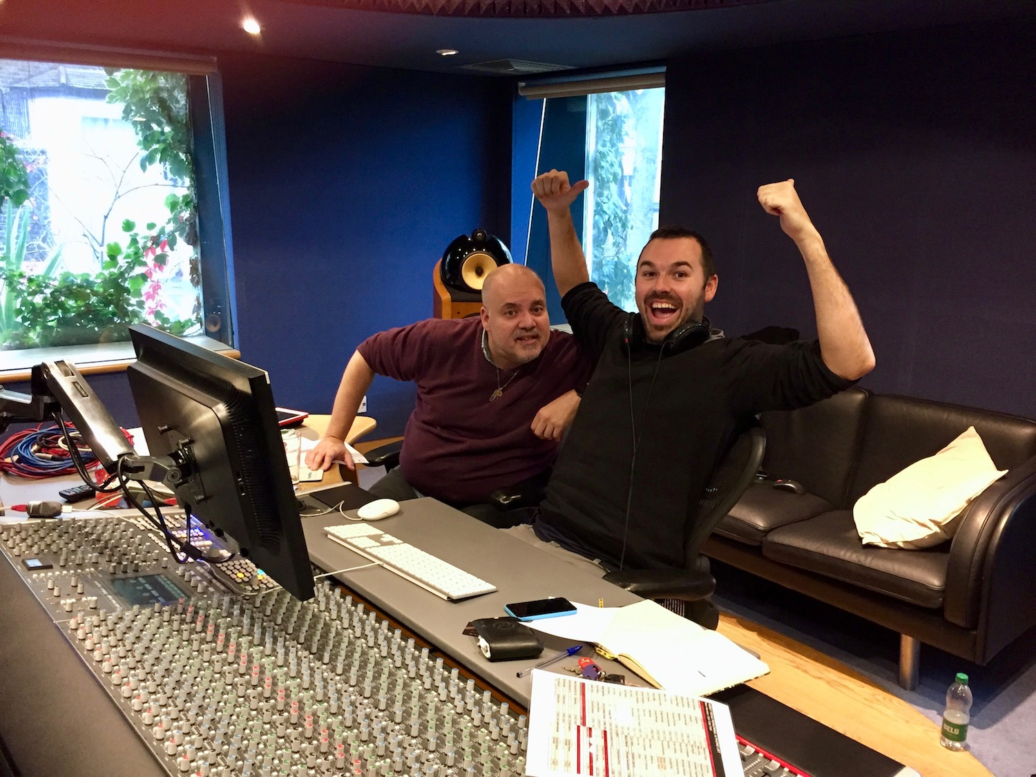 Paul Pritchard and moi, mastering at Abbey Road