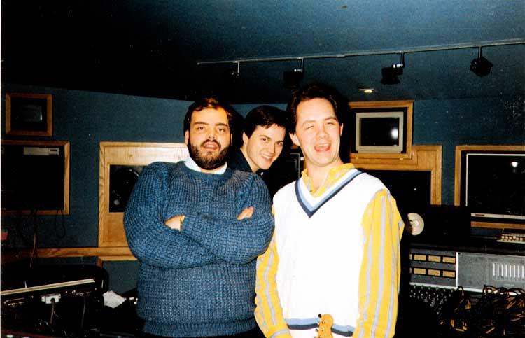 Mark, Roddy and myself old Studio 5