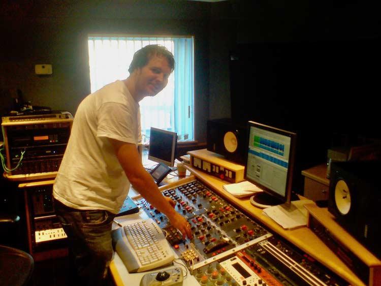 Alex Wharton in his mastering room