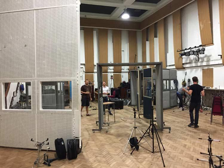 Setting up studio 2 for the Brave album (LGBB)