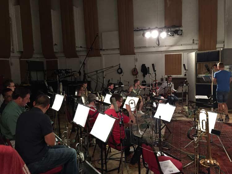Studio 2 Big Band set up