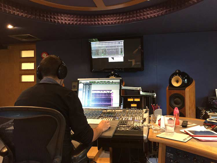 Paul Pritchard in Studio 52 Mixing Suite