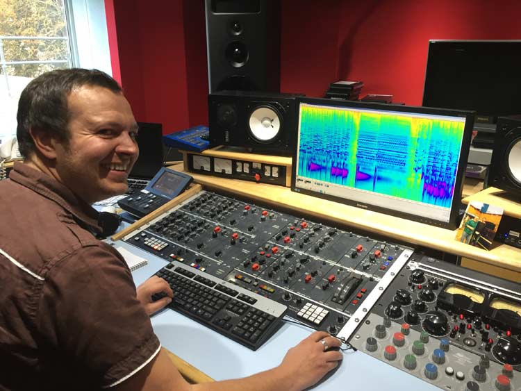 Alex Wharton mastering suite
