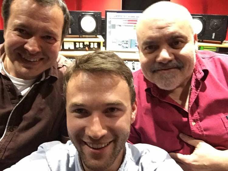 Stefan, Alex and I (mastering Brave)