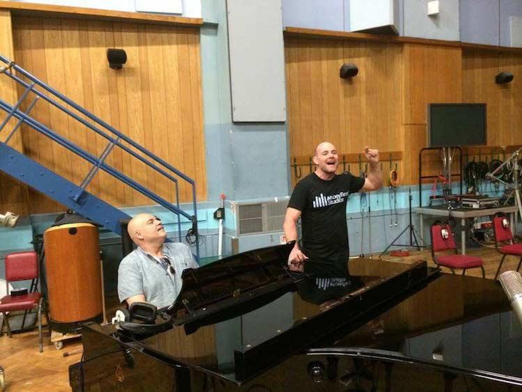 Dave Fernandez and I in Studio 1