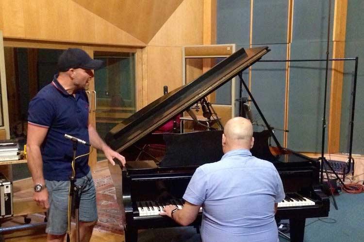 Dave Fernandez and I practising in Studio 3