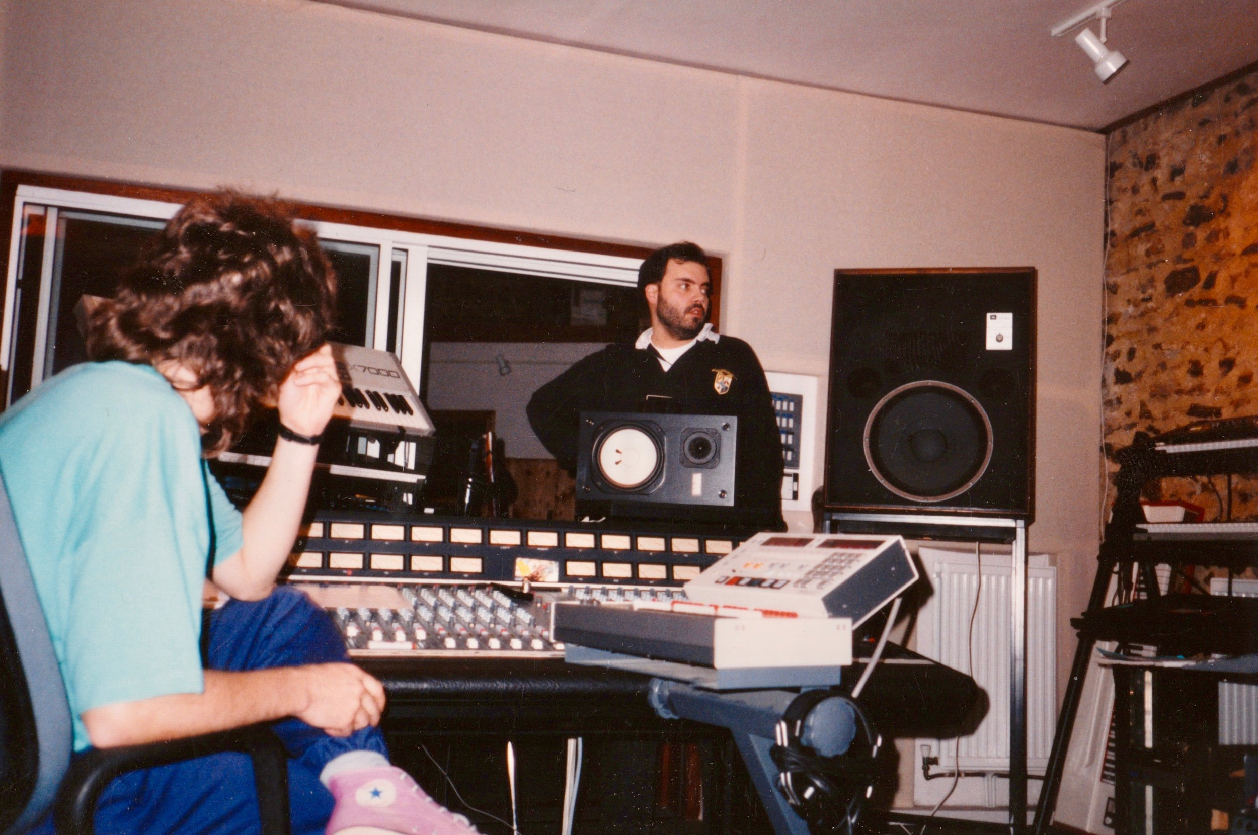 Producing The Proof in a studio in Devon