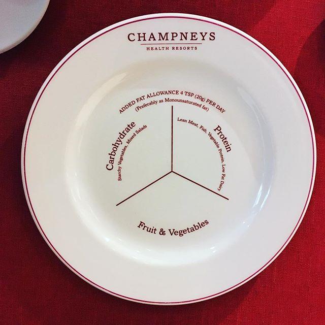 ♥️a helpful food dividing dish at Champney's Health Spa, Tring. ♥️#Champneys