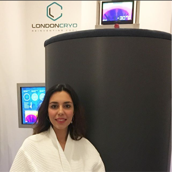 Christabel Milbanke experiences Cryotherapy at LondonCryo