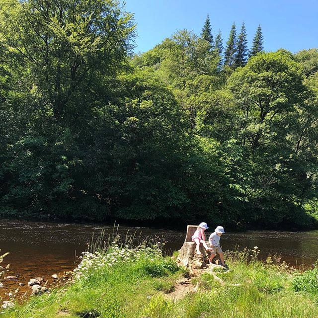 River hangs with three year olds and babies... 80% loving that the sunshine is out; 20% not loving putting sun tan cream on small, sticky bodies, trying to keep everyone hydrated and not burn my baby or my boobs when feeding in the sun! ☀️