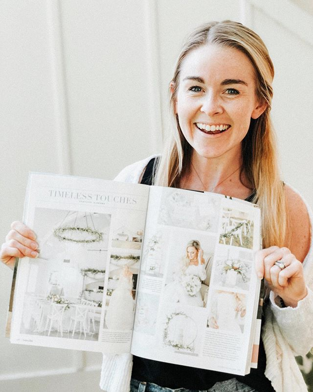 Finally got my hands on a copy of @southernbridemagazine & just really humbled to see some of our work right smack-dab in the middle ☺️ So grateful to work with an amazing team of vendors on this timeless styled shoot! — Photographer: @katieandalecphoto Planner + Florals: @christinasloanevents Venue: @oakmeadoweventcenter Linens: @bbjlinen Cake: Kristin Sparks Invitations/Watercolors: @alexflydesigns + @sarias_creates Dress: @ivoryandwhiteboutique Hair/Makeup: Becca Tate Model: @redmodelsbham