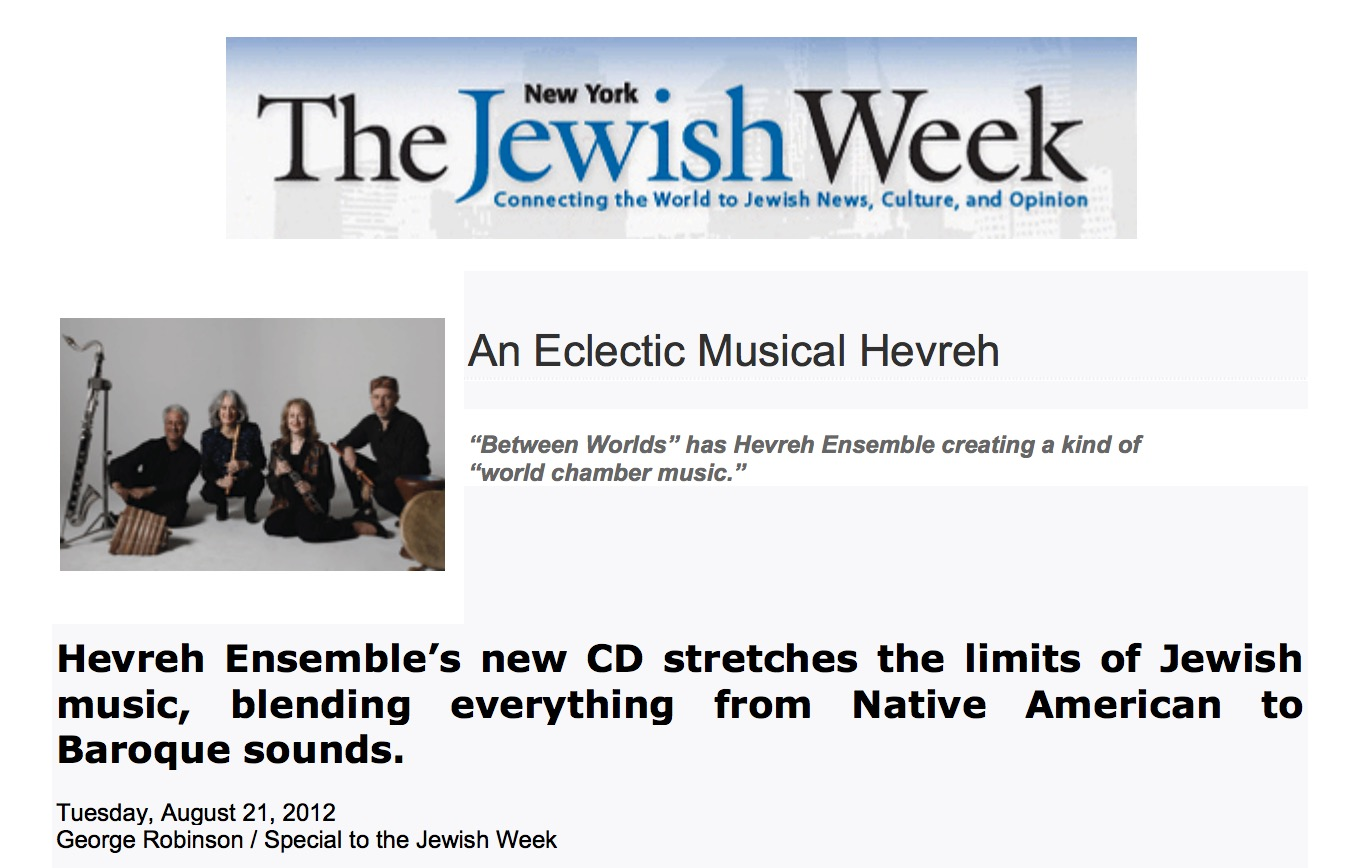 The NY Jewish Week - George RobinsonCD Review, August 2012