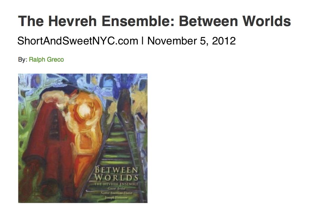 Short & Sweet NYC - Ralph GrecoCD Review, November 2012