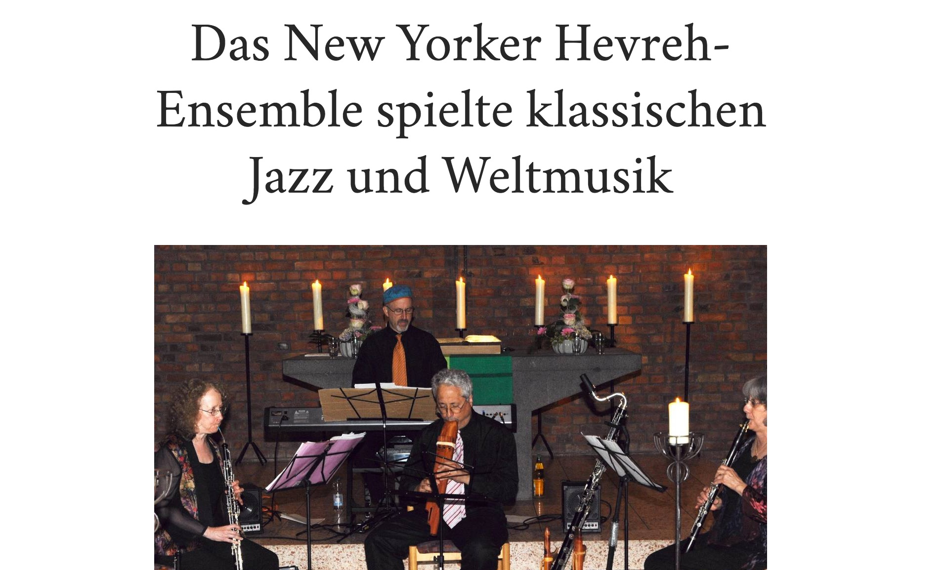 General Anzeiger - Bonn, GermanyConcert Review, August 2013