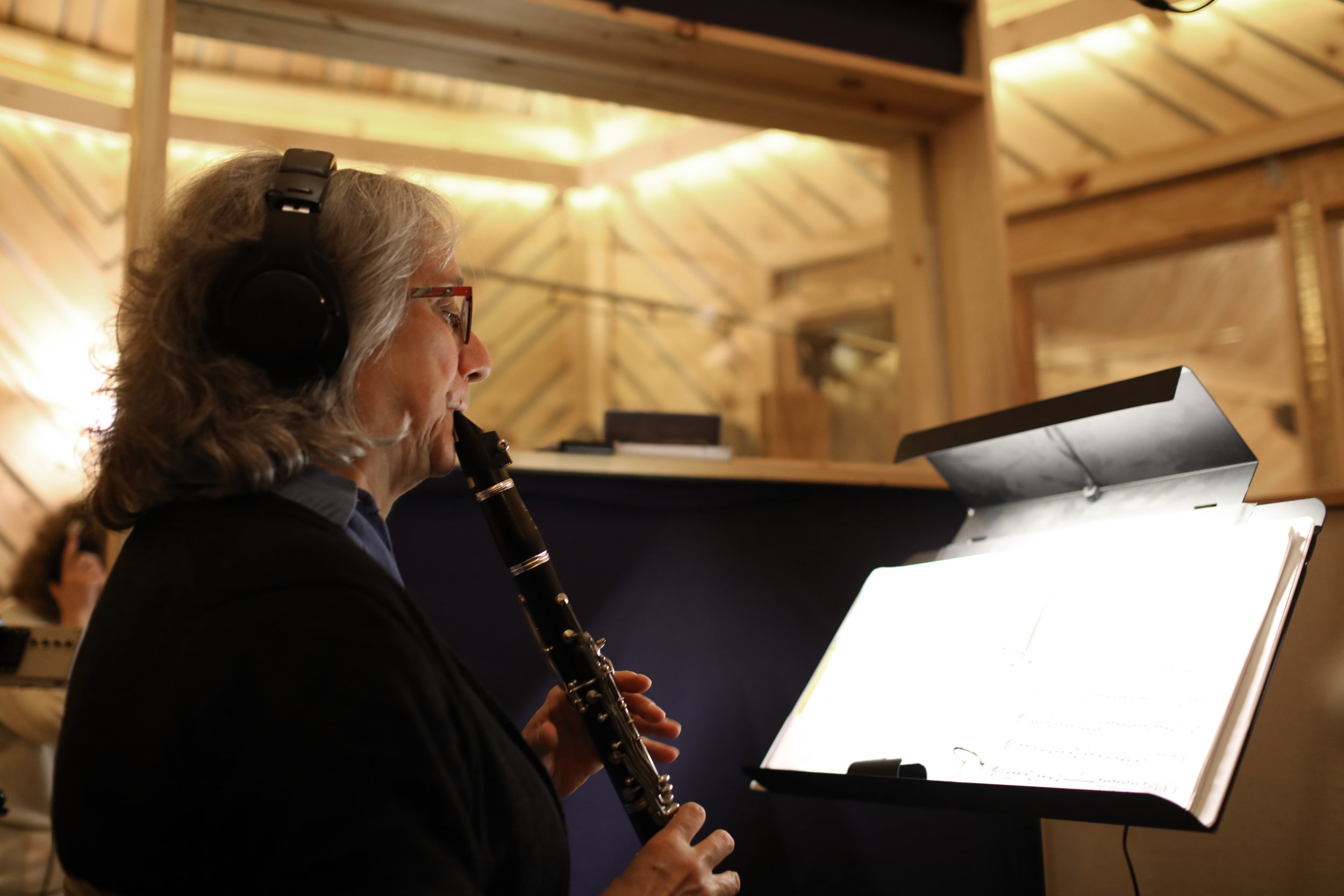 Laurie playing recording.jpg