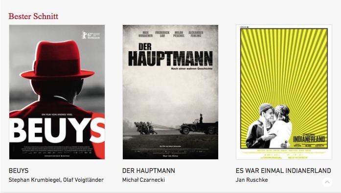 Nominierung zum deutschen filmpreis -