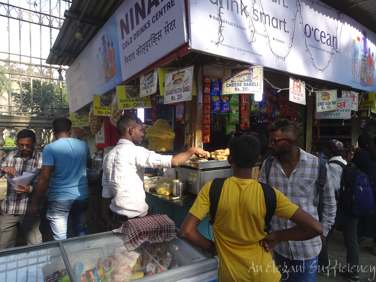 a kiosk selling the delicious street food in Mumbai last year