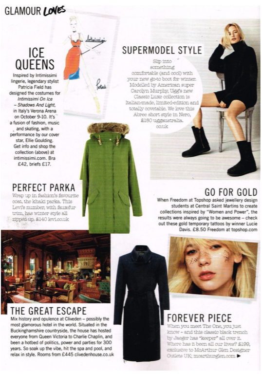 Glamour Magazine, November 2015, U.K.