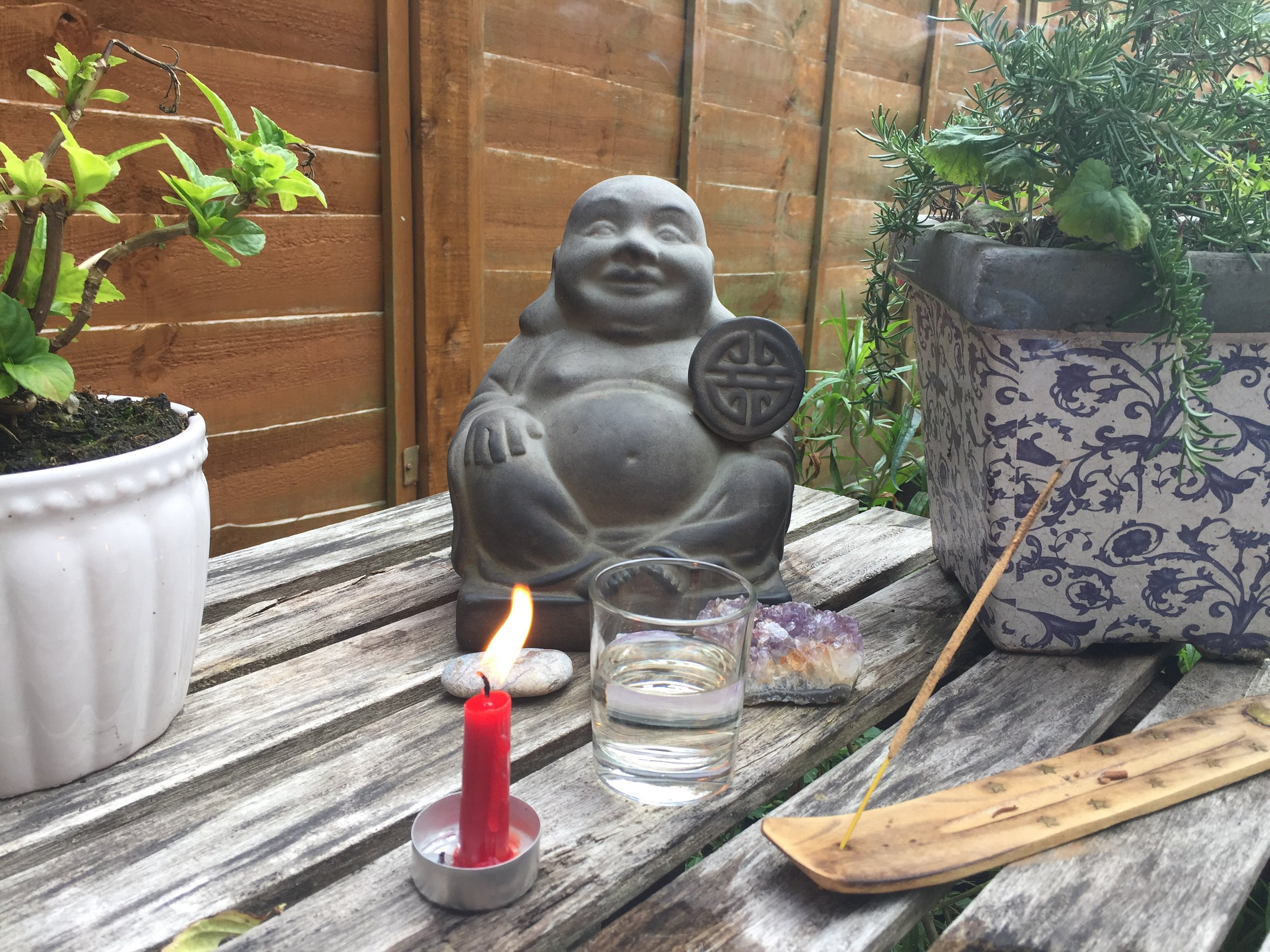 My outdoors altar.