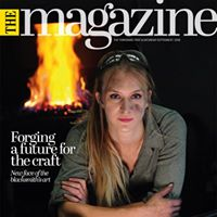 Yorkshire Post Magazine - Katie Ventress of KV Artist Blacksmith making the front cover of the Yorkshire Post Magazine.September 2018