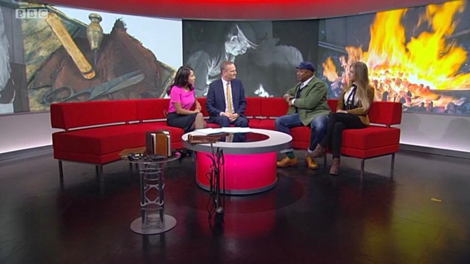 """BBC Look North - Katie Ventress live on BBC Look North with Jason Stock-Young, promoting new series on BBC2 """"Made in Great Britain""""."""