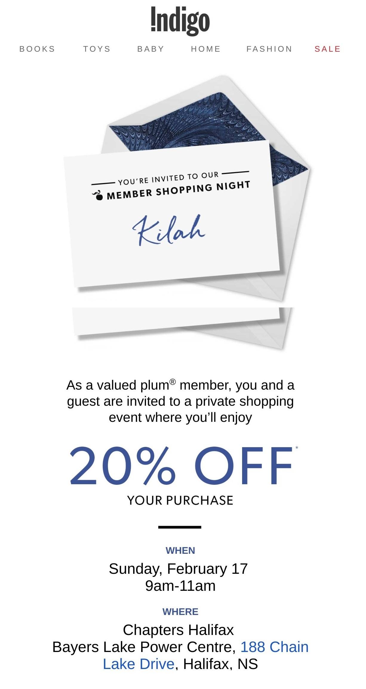 Indigo Exclusive Member Shopping Night.jpg