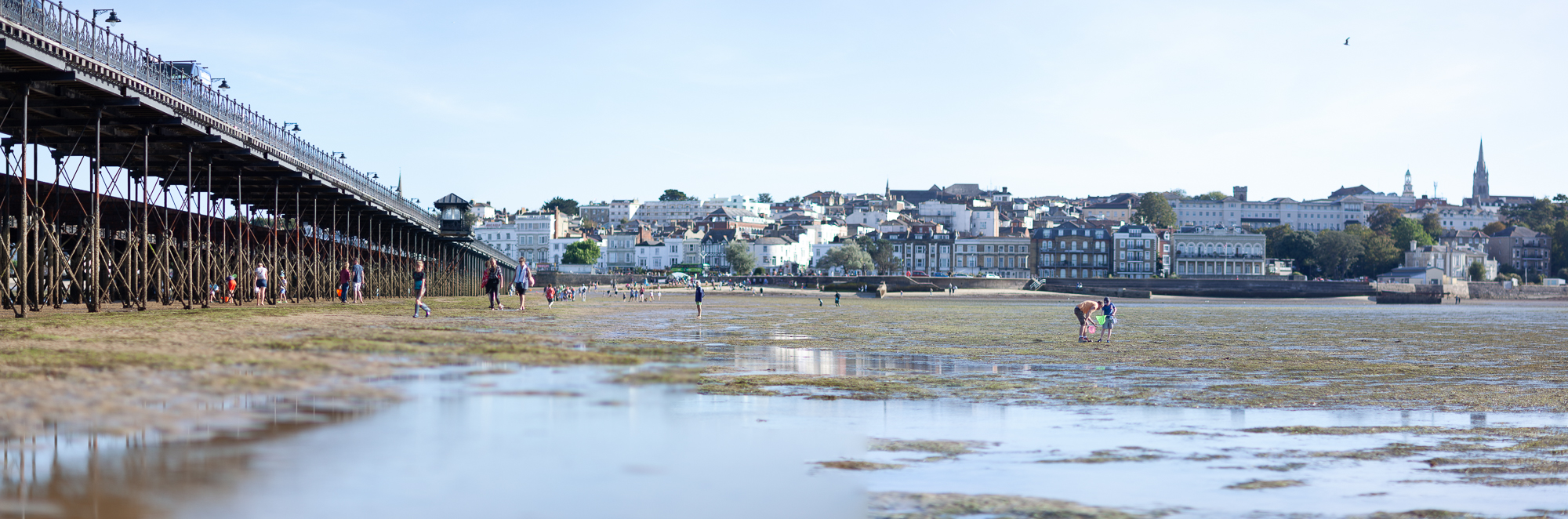 Ryde's historic townscape from the End of The Pier Pic by Julian Winslow