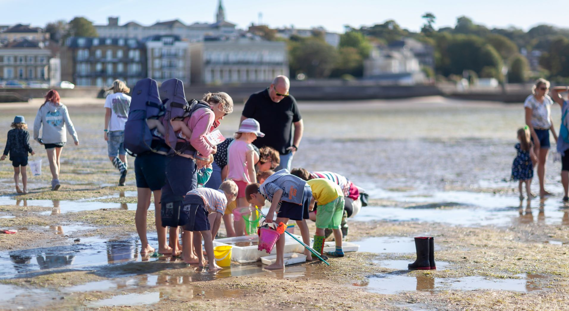 Sandpooling with Ryde's historic streetscape as your backdrop picture by Julian Winslow